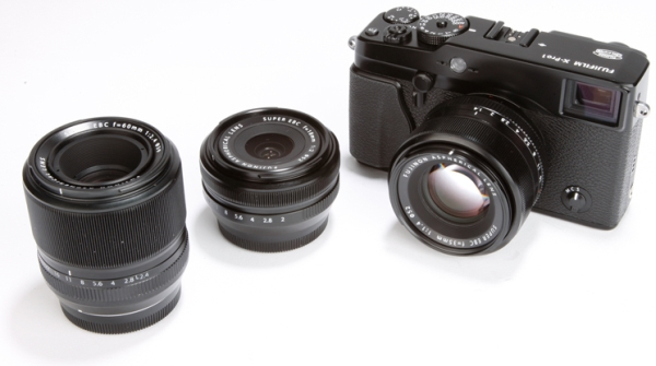 Fujifilm X-Pro1 with lenses
