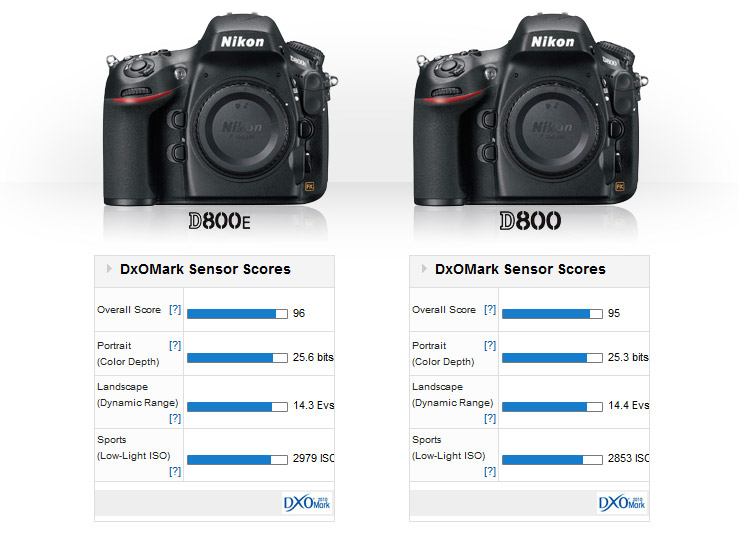Nikon D800E vs. Nikon D800