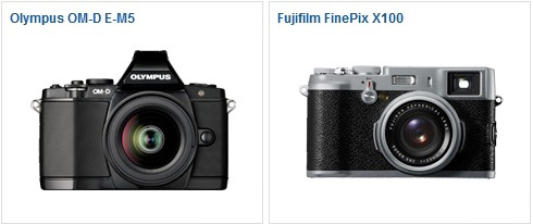 OM-D E-M5 vs Fujifilm FiePix X100
