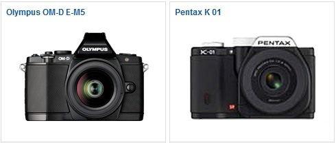 OM-D E-M5 vs Pentax K-01