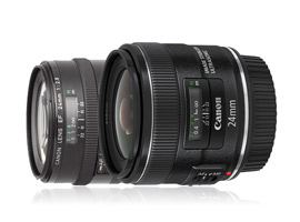 Canon EF 24mm f/2.8 IS USM vs. Canon EF 24mm f/2.8: A side-by-side comparison
