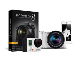 DxO Optics Pro 8 image quality now available for users of GoPro, smartphones, and Samsung NX and EX cameras