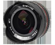 Samyang 7.5mm F3.5 UMC Fish-eye Micro 4/3