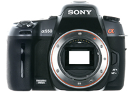 Sony Alpha 550 with no lenses