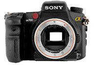 Sony Alpha 700 with no lenses