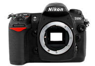 Nikon D200 with no lenses