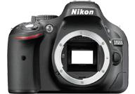 Nikon D5200 with no lenses