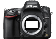 Nikon D610 with no lenses