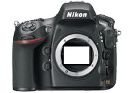 Nikon D800E with no lenses