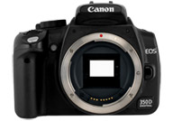 Canon EOS 350D with no lenses