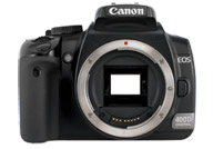 Canon EOS 400D with no lenses