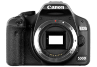 Canon EOS 500D with no lenses