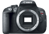 Canon EOS 700D with no lenses