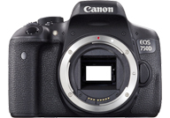 Canon EOS 750D with no lenses