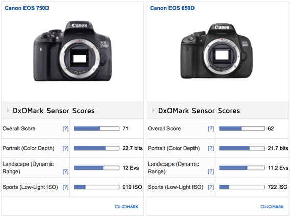 Canon Eos 750d Rebel T6i Sensor Review First Canon Aps C