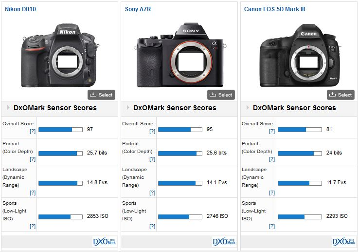 Nikon D810 review DxO Mark