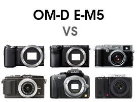 The Olympus OM-D E-M5 face to face with its competition