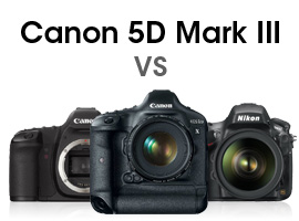 Canon 5D Mark III versus competition