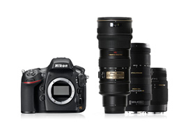 The Nikon D800 and telephoto lenses