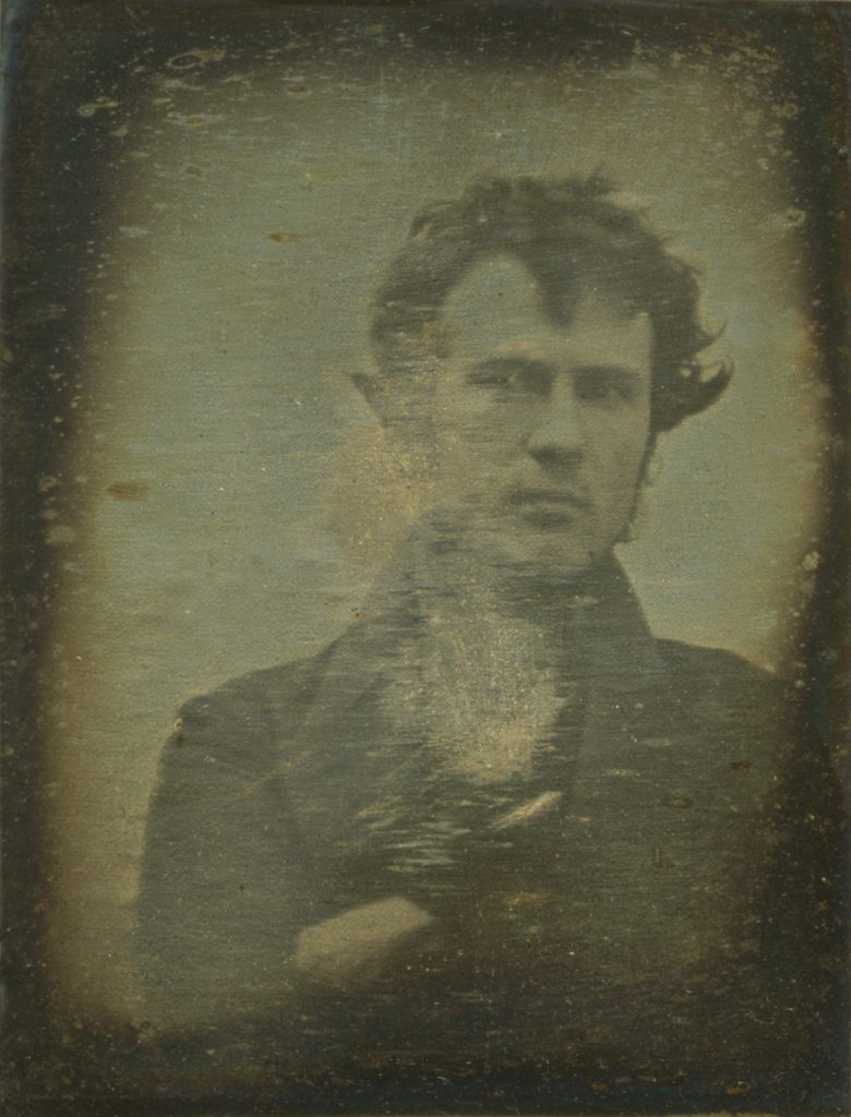 First known selfie taken by Robert Cornelius in 1839